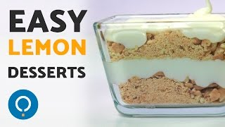 Easy lemon desserts - No bake healthy recipes