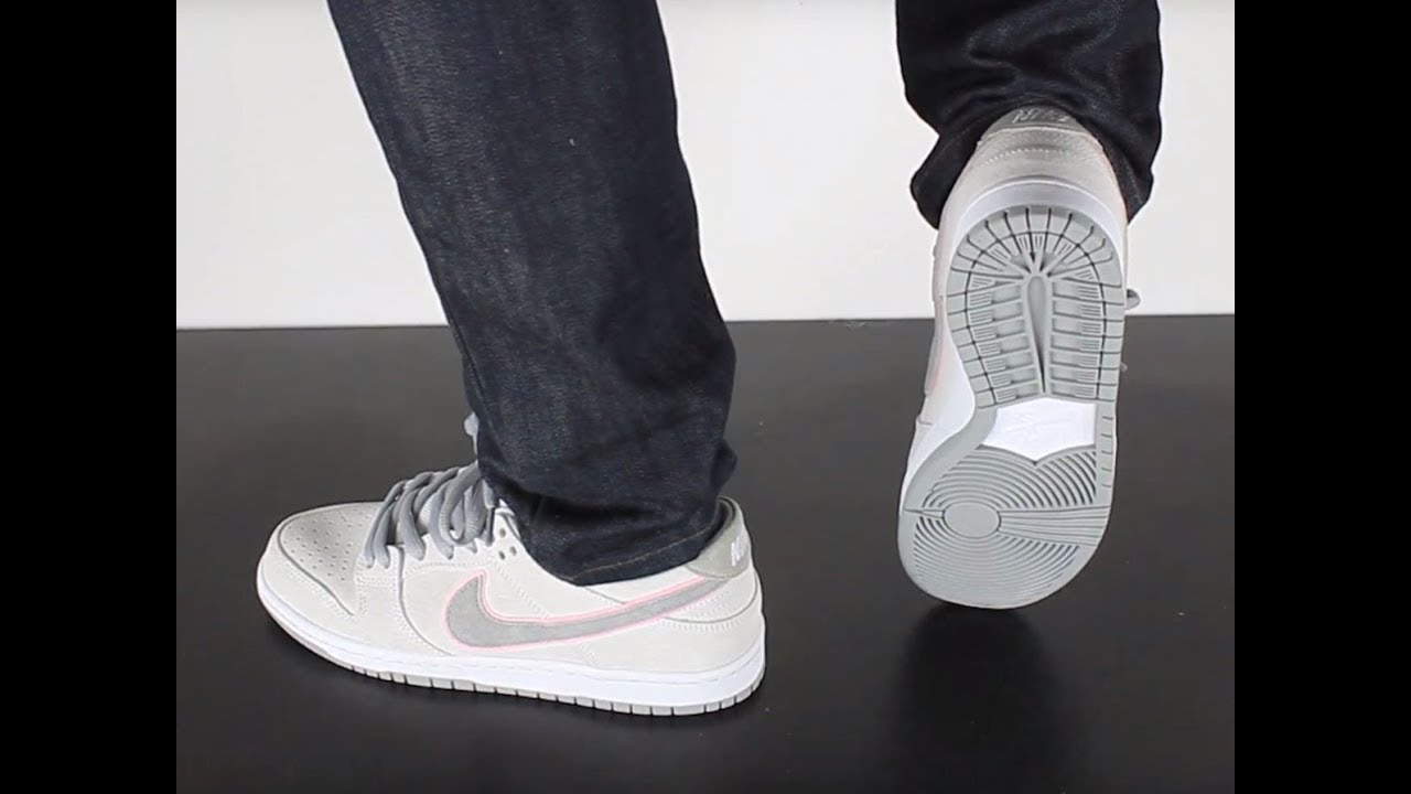 8e11ef44678 NIKE SB DUNK LOW PRO ISHOD WAIR white perfect pink flat silver - YouTube