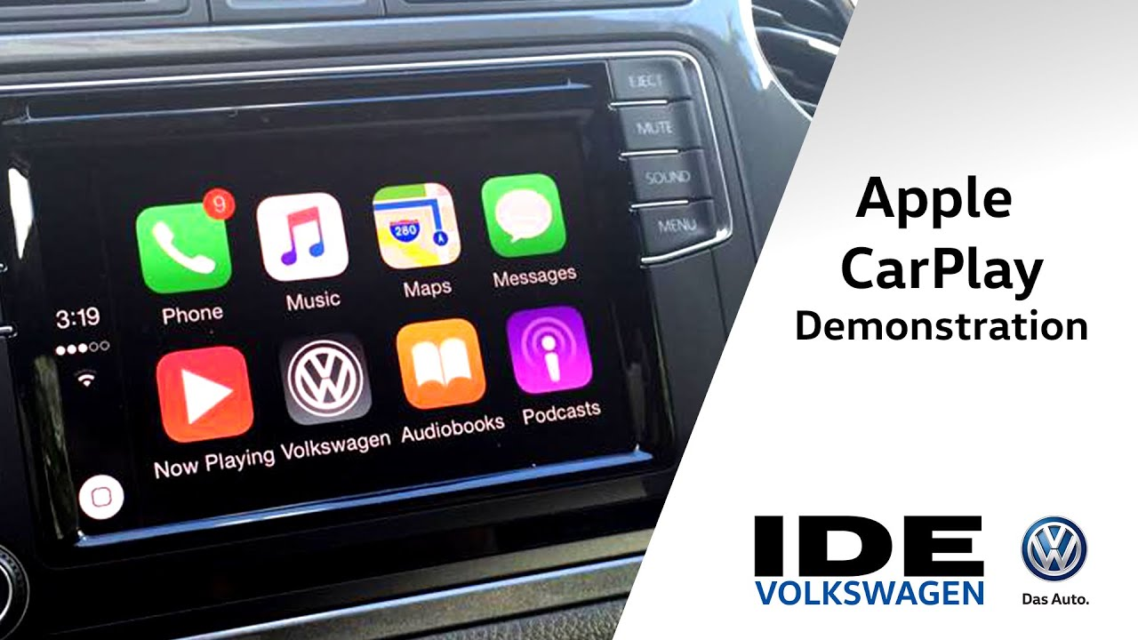 apple carplay demonstration in 2016 vw ide volkswagen. Black Bedroom Furniture Sets. Home Design Ideas