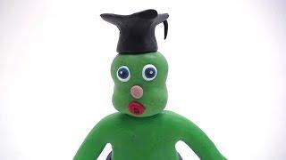 Green Baby emotions educate! -in- TEACHING FEELINGS - Clay & Play Doh Stop Motion Cartoons