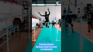 Training Simple Vertical Jump Increase on Volleyball
