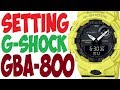 Casio G-Shock GBA-800 STEP TRACKER manual 5554 to set time