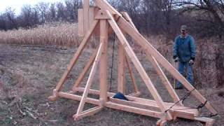 Trebuchet Catapult Throwing Pumpkin