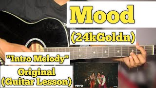 Mood - 24kGoldn | Guitar Lesson | Intro Melody | (With Tab)