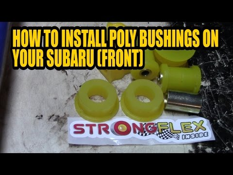 How to install poly bushings on your subaru (front)