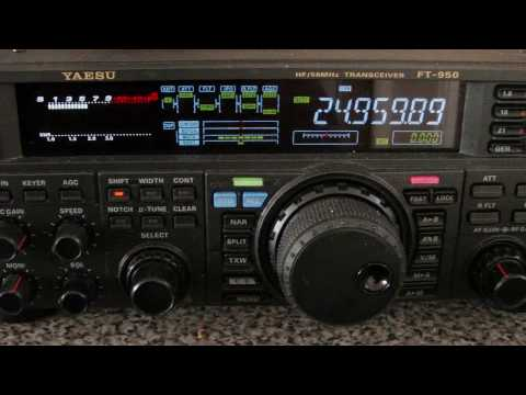Yaesu FT950 contact 12 Meters into Central Africa