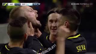Sebastian Larsson frisparksmål | AIK-MFF (1-1)