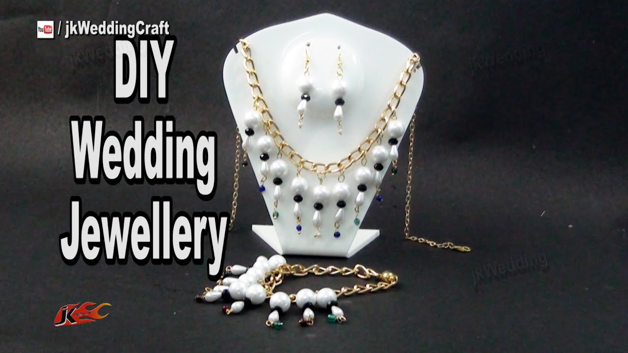 DIY Pearl Necklace Earring Bracelate Set | Gift Idea jewelry ...