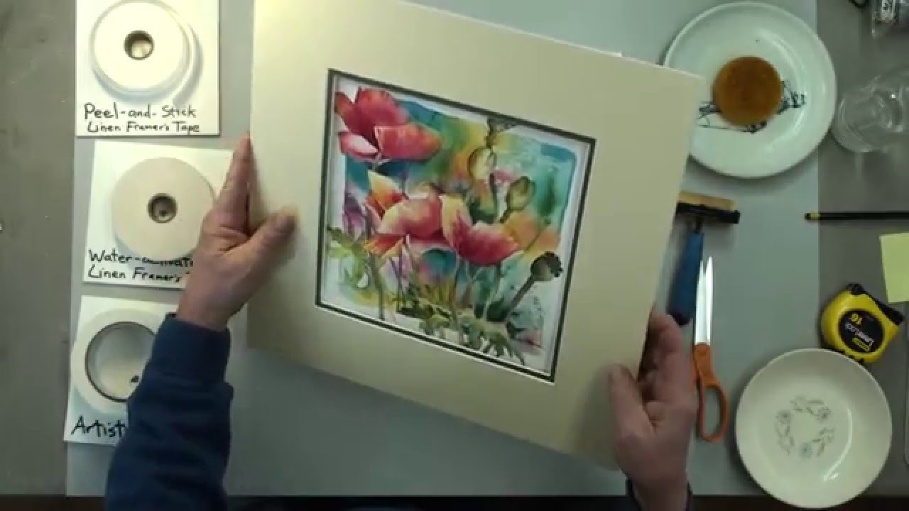 How To Mat An Artwork Hinging And Mounting By Our Professional Framer