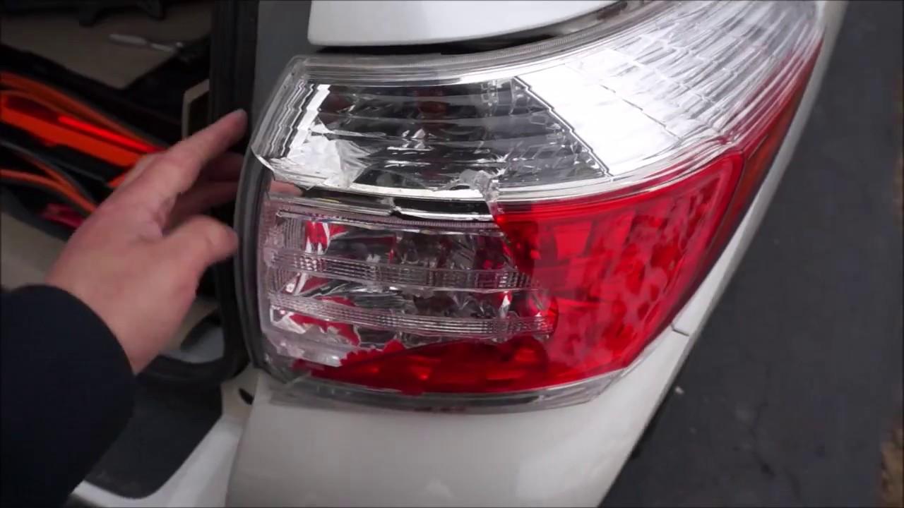 hight resolution of toyota highlander tail light replacement 2011 youtube 2002 toyota highlander tail light wiring