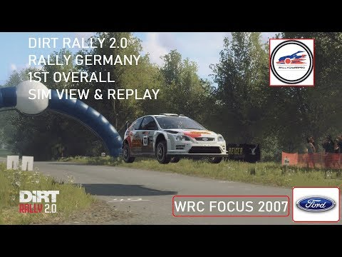 DiRT Rally 2.0 - Germany - Focus wrc 2007 - 1st Overall - G29 - PS4