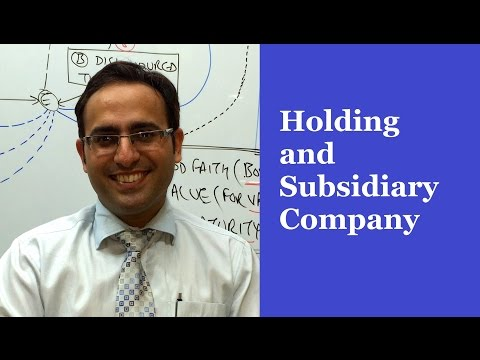 Company Law Lectures for CA,CS,CMA // Holding and Subsidiary Company
