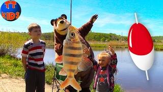 ВЛОГ Ярослава и Медведь на рыбалке ловят рыбу Едем отдыхать на озеро