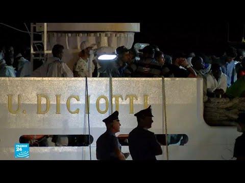 سفينة تحمل أكثر من 500 مهاجر ترسو في صقلية  - نشر قبل 2 ساعة