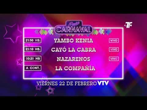 Agenda Carnaval – Viernes 22 de Febrero