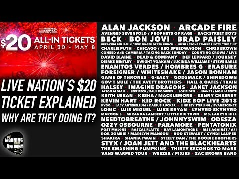 Live Nation's $20 All In Ticket Explained! Mp3