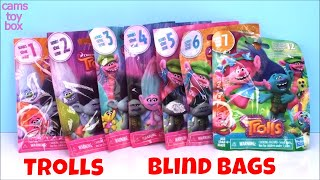 Dreamworks Trolls Blind Bags Toys Opening Series 1 2 3 4 5 6 7 Surprises Review Color Change
