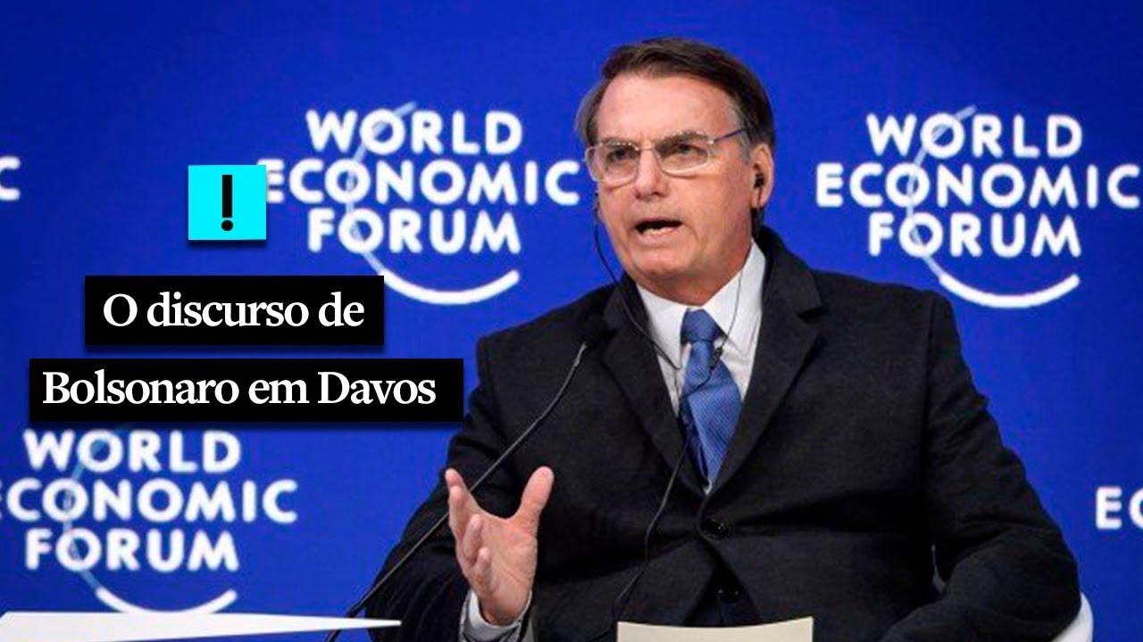 O Discurso De Bolsonaro Em Davos Youtube