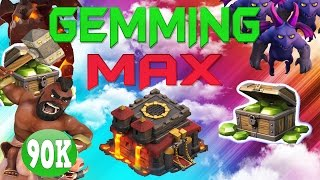 "CLASH OF CLANS - $1100! GEMMING TO MAX TOWN HALL 10 / GEM SPREE! ""LAVA HOUNDS +FUNNY MOMENTS"" EP12"