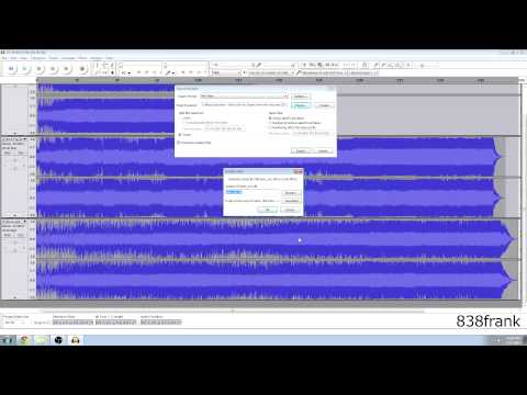 Convert .FLAC to .MP3 using Audacity