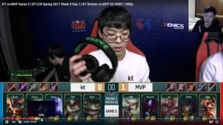 【叉燒老師來分析】LCK|KT vs MVP #G2 W5D1 2017/02/16