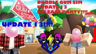 LIVE ROBLOX BEATBOXER BUBBLE GUM SIM UPDATE 13 RELEASE STREAM (2/2/19)