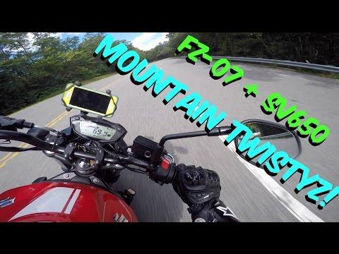 Mountain Twistyz With Suzuki SV650 And Yamaha FZ 07