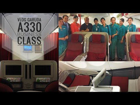 Garuda A330 Upgrade to Business Class VLOG | Trying Out the Fully Flat Bed!