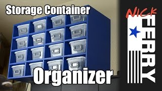 Ⓕ How To Make A Storage Container Organizer (ep22)