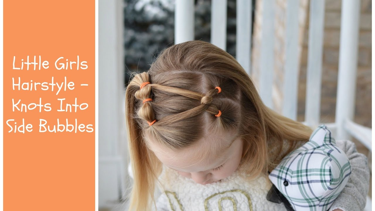 Little Girls Hairstyle Side Knot Into Bubble Ponies Youtube