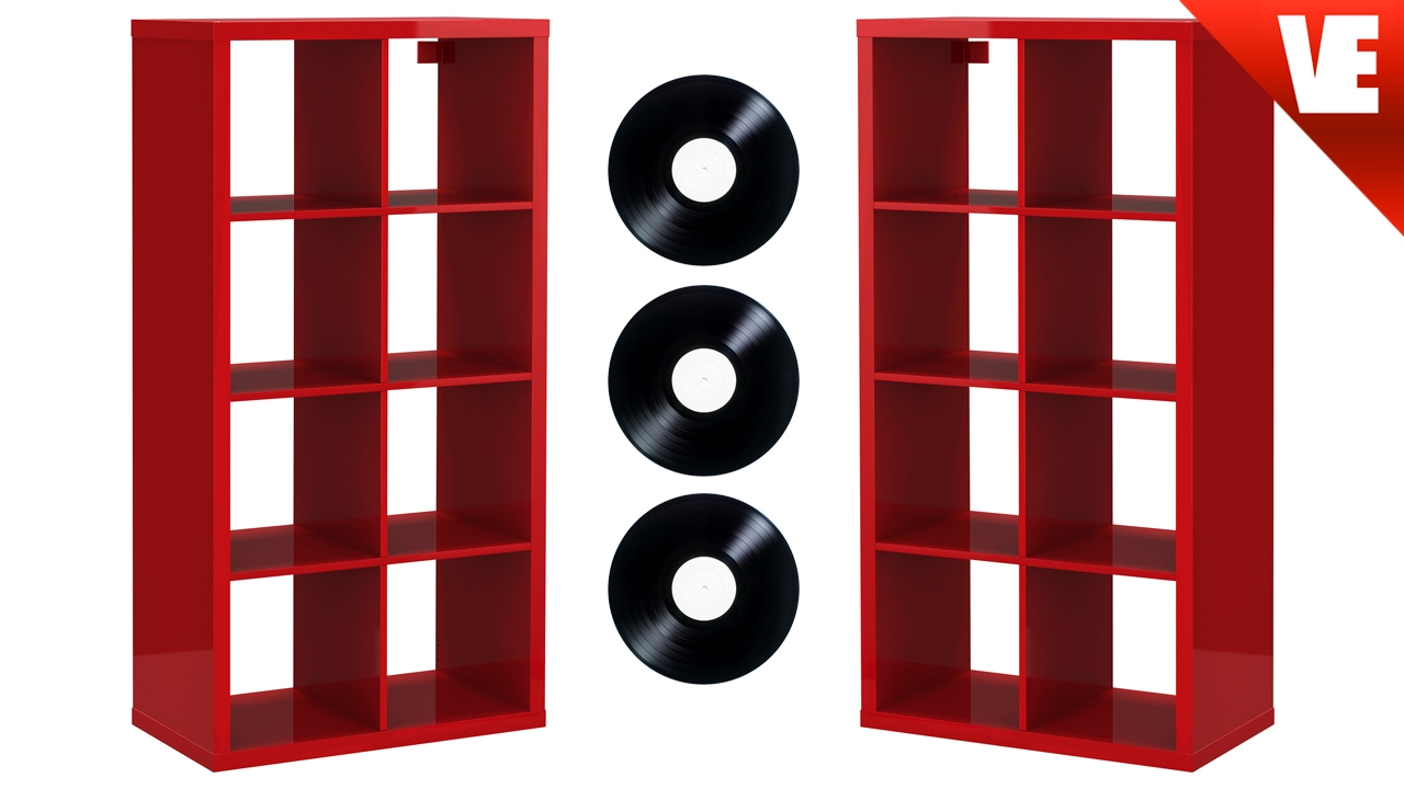 Record storage white square lpvinyl music record storage for House music vinyl