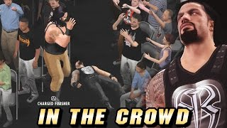 WWE 2K16 : Roman Reigns Breakout Through The Crowd (What if?)