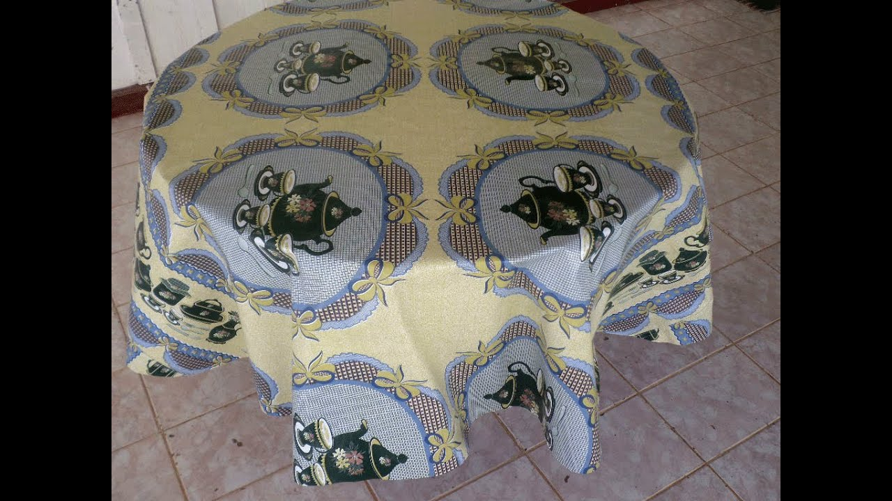 HOW TO MAKE A ROUND TABLECLOTH   YouTube