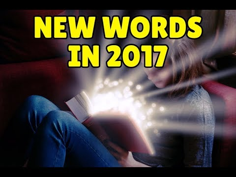 New English words added to the dictionary in 2017
