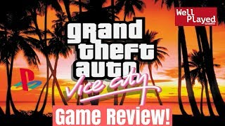 Grand Theft Auto Vice City Playstation 2 Game Review