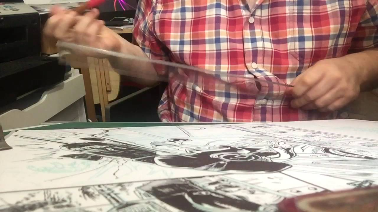 Drawing Straight Lines With Brush In Photo : Inking straight lines using a brush dip pen youtube