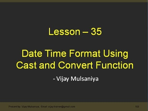Lesson 35 Cast And Convert Function In SQL In Hindi