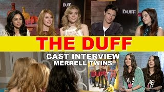The DUFF Cast Interview - Merrell Twins, Mae Whitman, Robbie Amell, Bella Thorne,