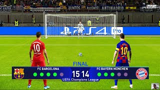 PES 2020 | Bayern Munich vs Barcelona | Penalty Shootout | Final UEFA Champions League | Gameplay PC