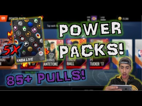 POWER PACKS ARE CRAZY GOOD! **85+ PULLS** | NBA LIVE MOBILE 18