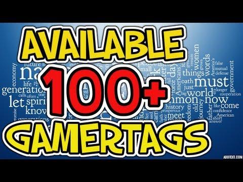 Top 100 gamertags