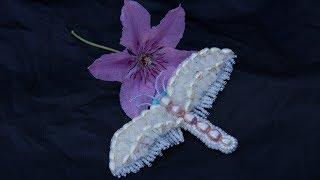 Необычная брошь бабочка. Делаем с натуры. Подробный мастер класс.