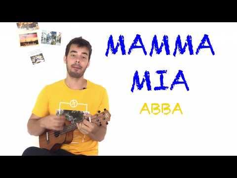 MAMMA MIA ukulele TUTORIAL - Abba w/ chords and fingerpicking