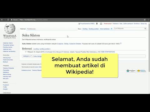Tutorial Wikipedia - Membuat Artikel Baru Dengan Visual Editor