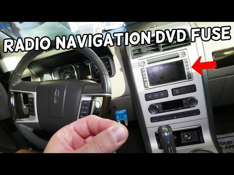 Lincoln Mkx Radio Navigation Dvd Fuse Location Replacement Radio Navigation Not Working Youtube