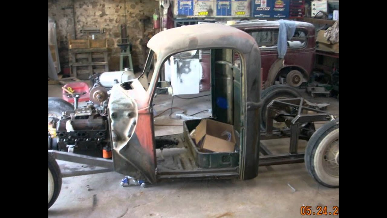 Build Your Own Ford >> 46 Ford Hot Rod Rat Rod build.wmv - YouTube
