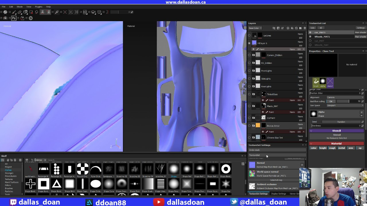 Fixing Bad Normal Map Bakes Manually in Photoshop