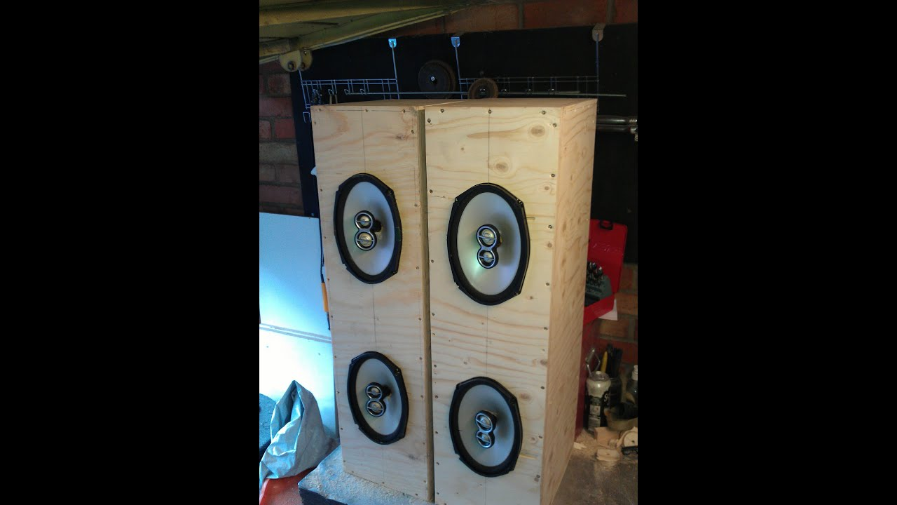 How to build home 6x9 speaker box cab - YouTube