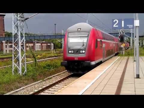 "[HD] Deutsche Bahn (DB) - RegionalExpress (RE7) - ""Regio"" Arrives at (kommt) Bahnhof Elstal"