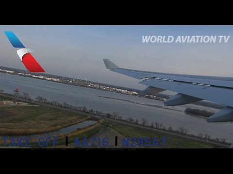 American Airlines A330 Take-Off Philadelphia FULL [HD]